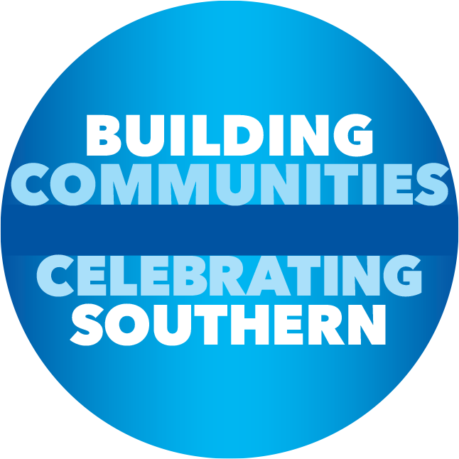 Buidling Communities and Celebrating Southern logo